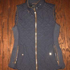Zara Woman quilted Navy Vest
